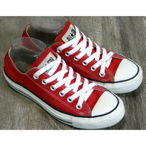 Converse Womens Red All Star Core Ox Sneakers Sz 7